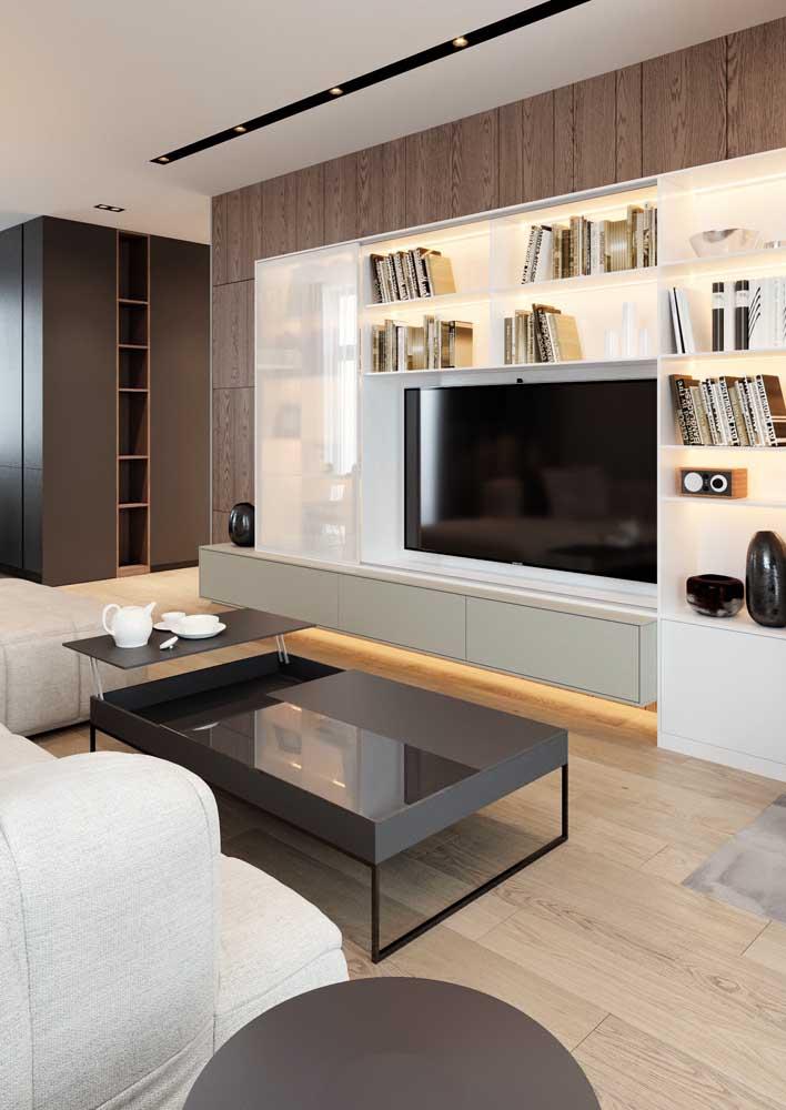 Piso vinílico em placas para a sala de estar: conforto térmico e sensação de aconchego