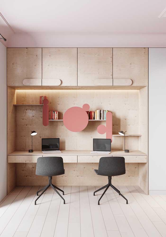 O piso vinílico em réguas e perfeito para ambientes corporativos também