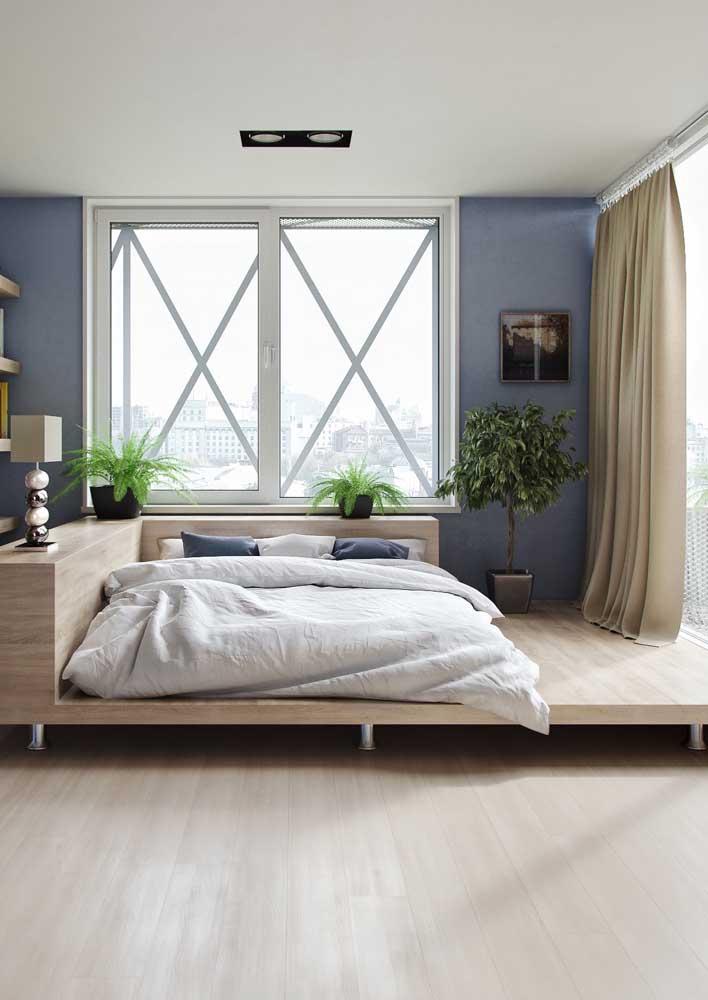 O quarto super moderno ficou ainda mais bonito com o piso vinílico