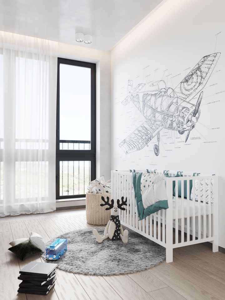 Por ser um piso anti alérgico e fácil de limpar, o vinilico se torna uma excelente opção para quartos de bebê