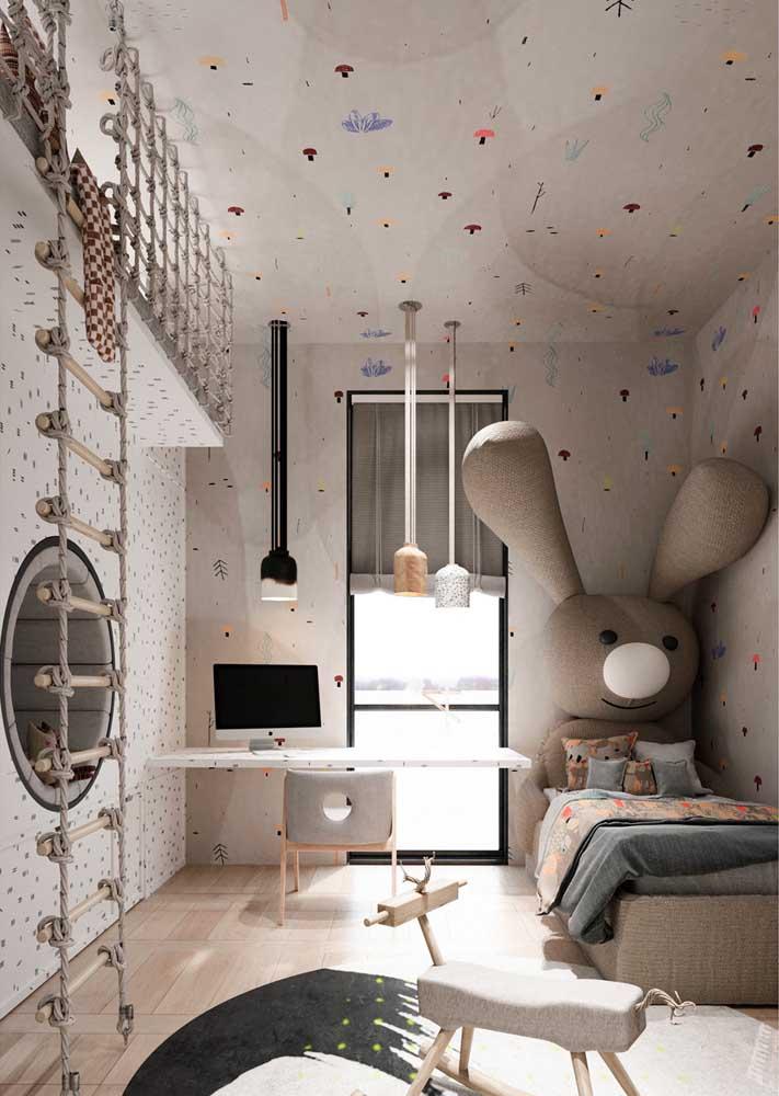 O quarto dos pequenos também fica um arraso quando o piso escolhido é o vinílico