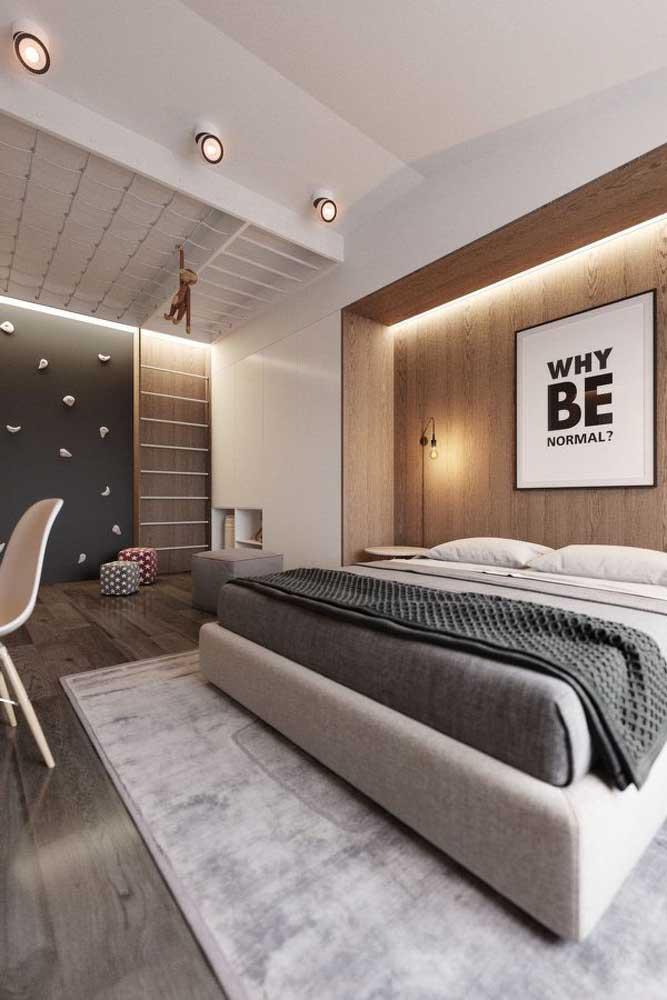 Piso vinílico para o quarto moderno