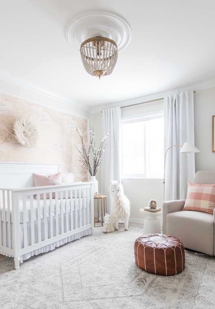 O quarto mais claro transmite paz e tranquilidade para o bebê que é o que ele mais precisa nesse primeiro momento.