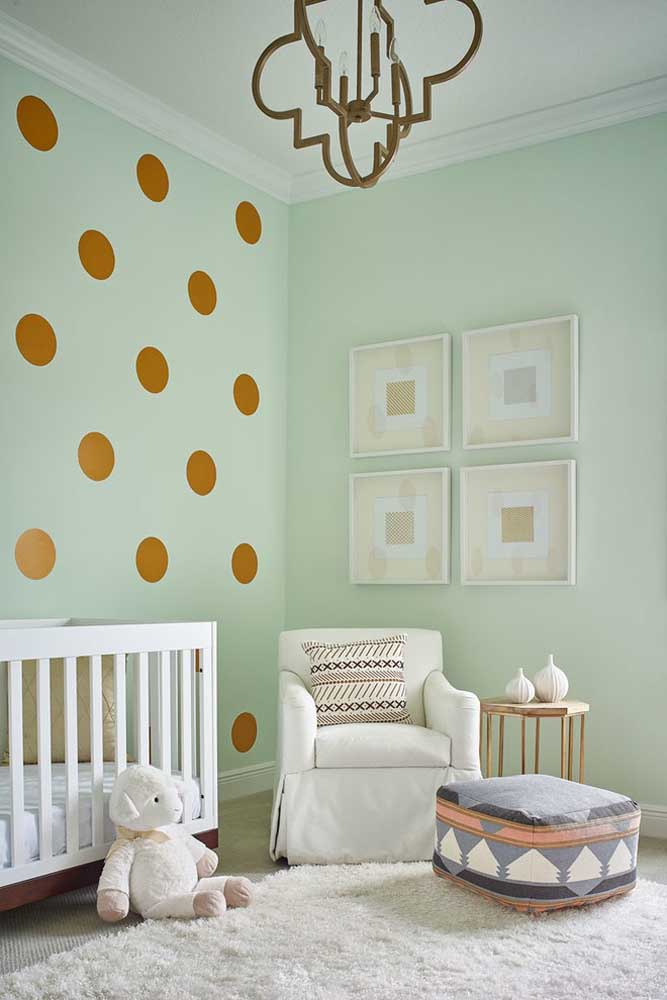 A cor verde clara é perfeita para proporcionar um ambiente mais aconchegante e tranquilo.