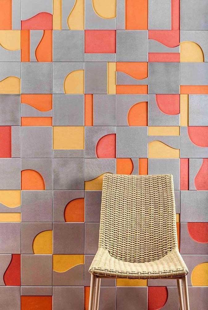 Com uma mistura de cores e formas, essa textura é para quem que deseja um visual moderno inovador e que, principalmente, fuja da monotonia