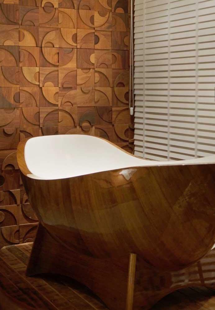 Revestimento 3D em madeira: dificilmente você vai encontrar algo mais marcante e sofisticado do que isso