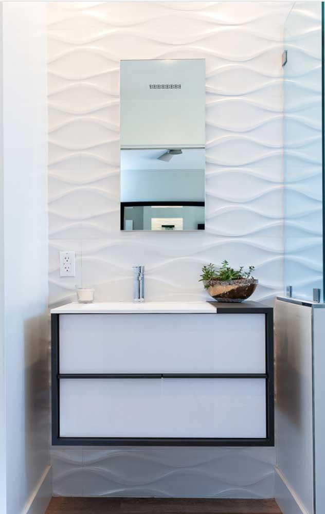 Formas e volumes para realçar a beleza do pequeno banheiro