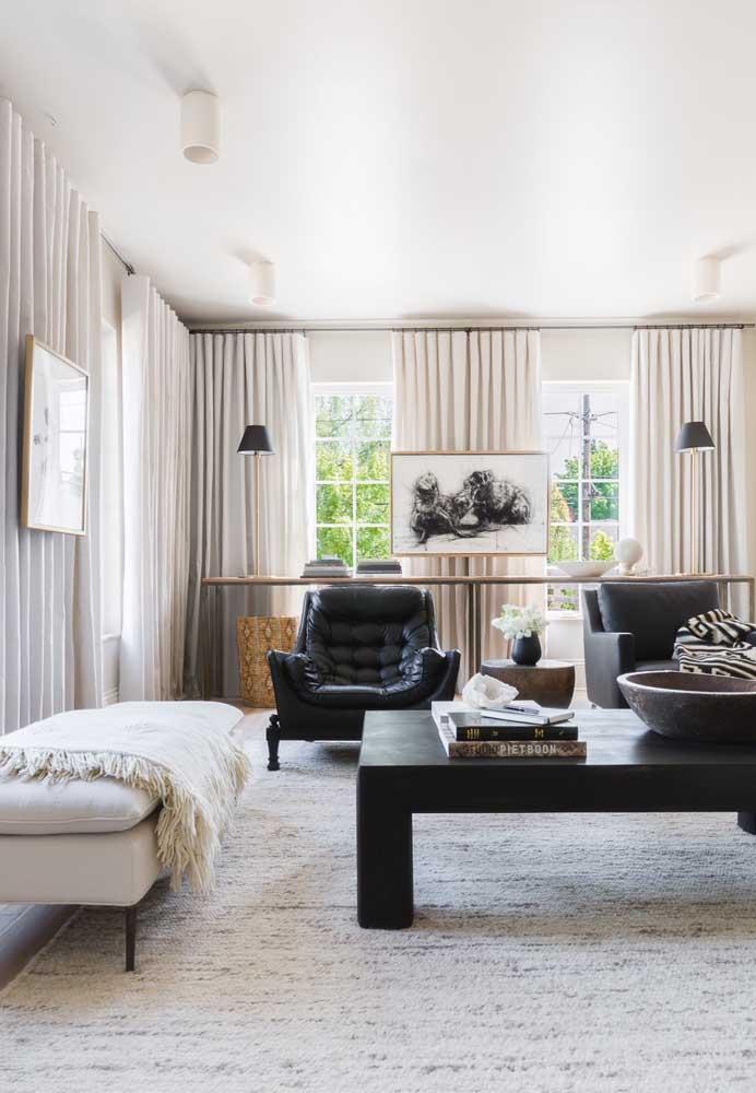 Crie um ambiente mais clean para proporcionar uma sala de estar mais confortável, sem perder a modernidade dos móveis.