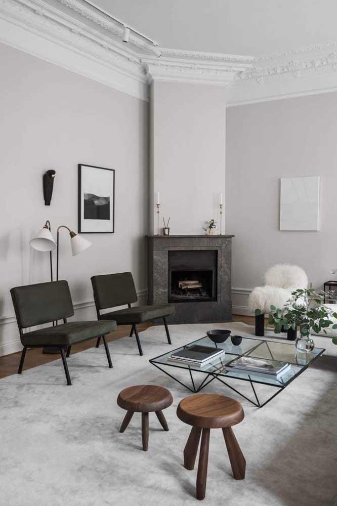 Mas se a intenção é chamar atenção, além de proporcionar um ambiente mais confortável, invista em um lindo tapete para colocar na sala de estar.