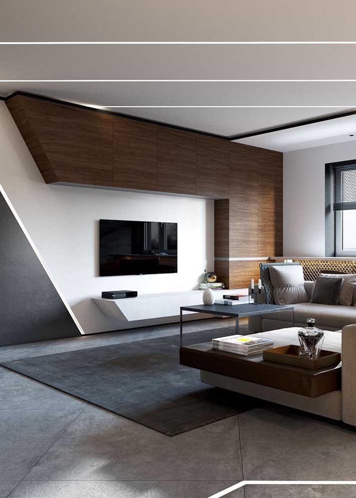 A madeira é um material muito usado para quem deseja ter uma decoração mais rústica, mas saiba que é possível fazer combinações com outros materiais para proporcionar um ambiente mais moderno.
