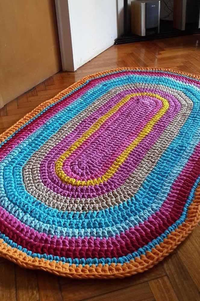 Para cada volta do tapete, uma cor