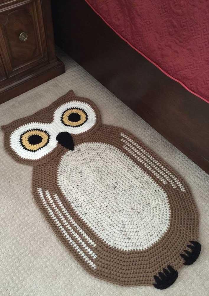 Olha a corujinha aí! Famosa em trabalhos artesanais, inclusive o crochê