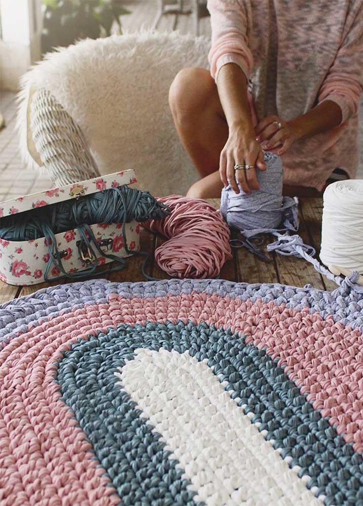 O fio de malha também produz peças incríveis de crochê, especialmente na técnica do maxxi crochê