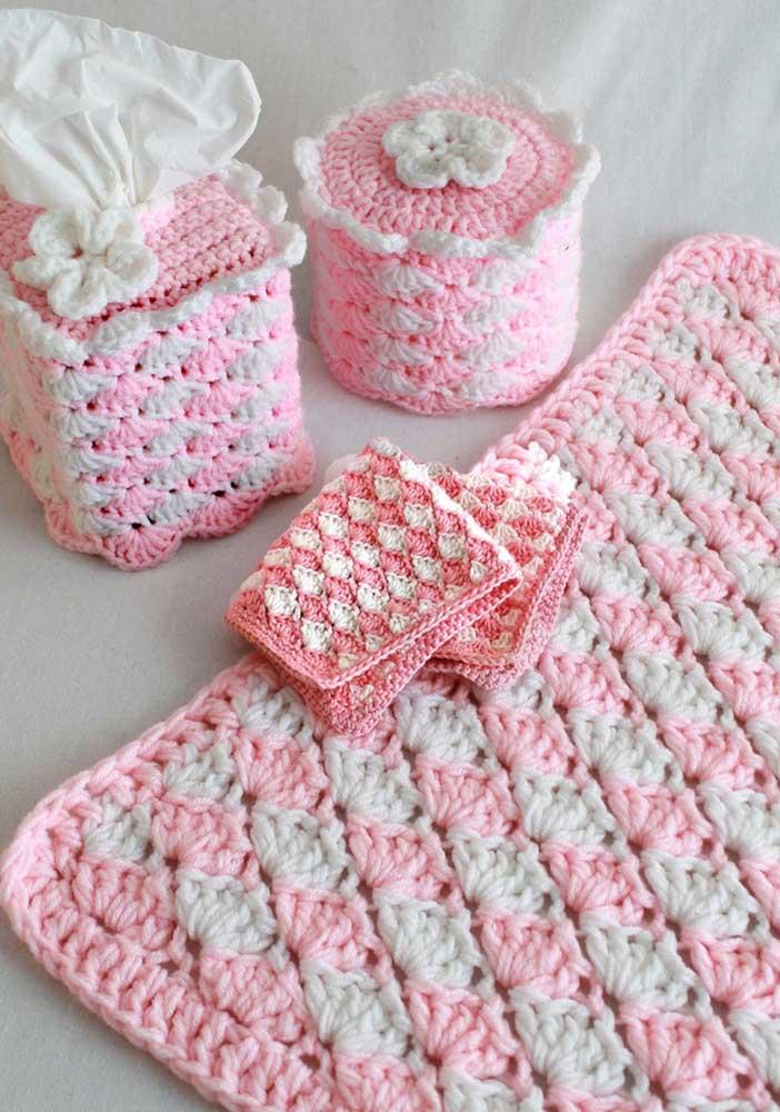 Sugestão de tapete de crochê para banheiros infantis