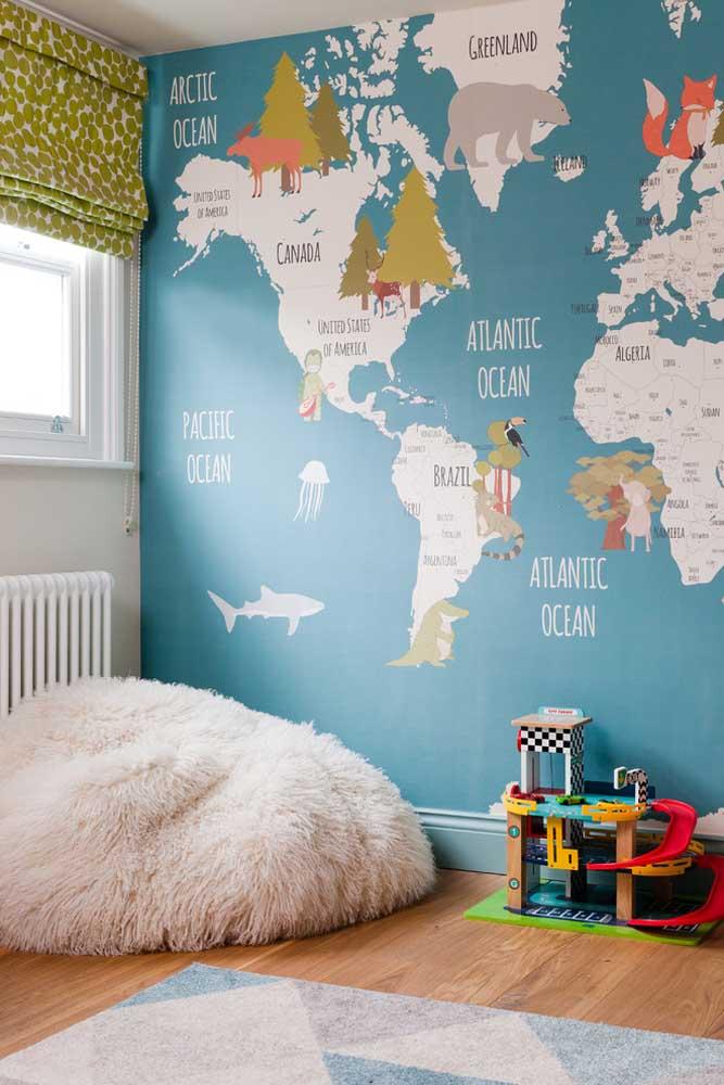 Decoração de quarto perfeito para quem ama viajar.