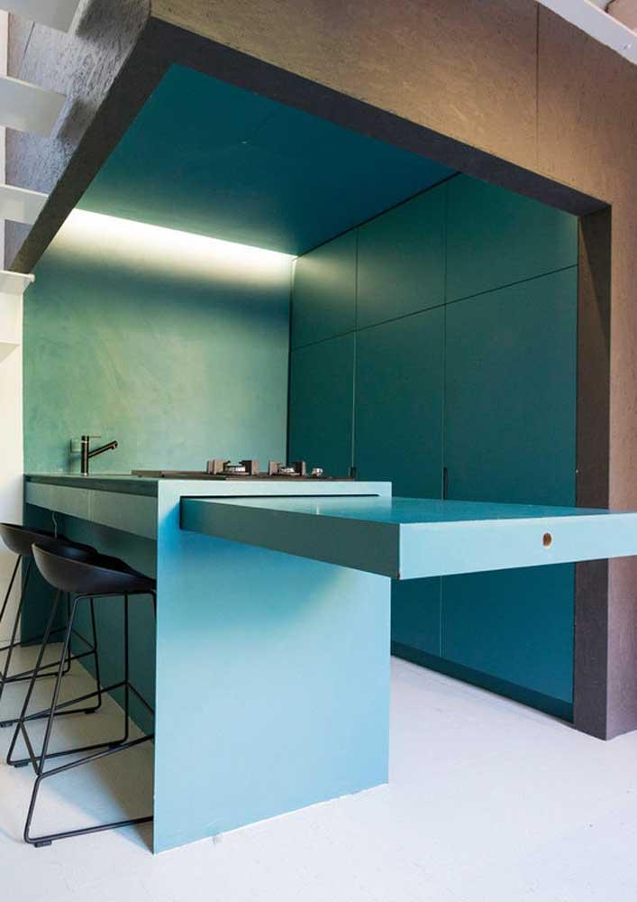 Olha que cozinha moderna e totalmente diferenciada.