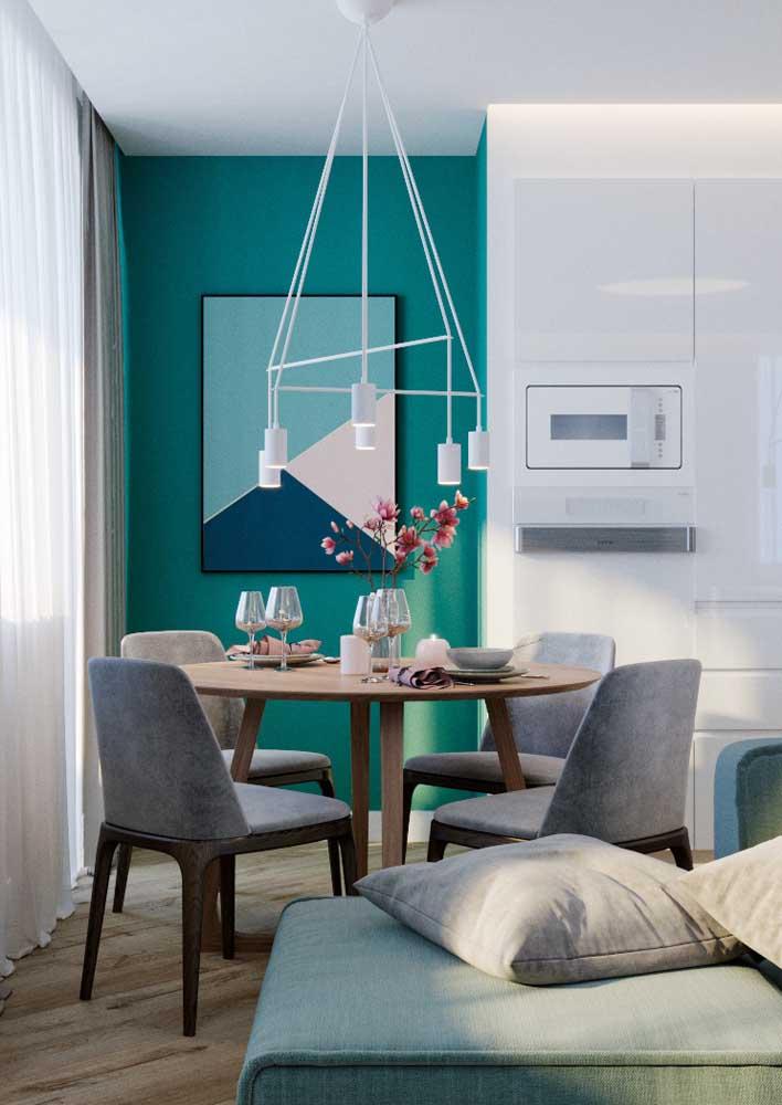 Use a cor azul turquesa em um cantinho da casa.