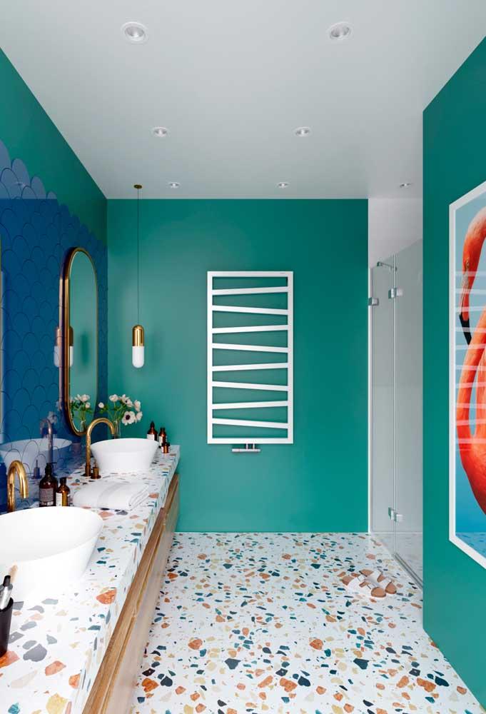 Faça uma combinação perfeita na hora de decorar o banheiro.