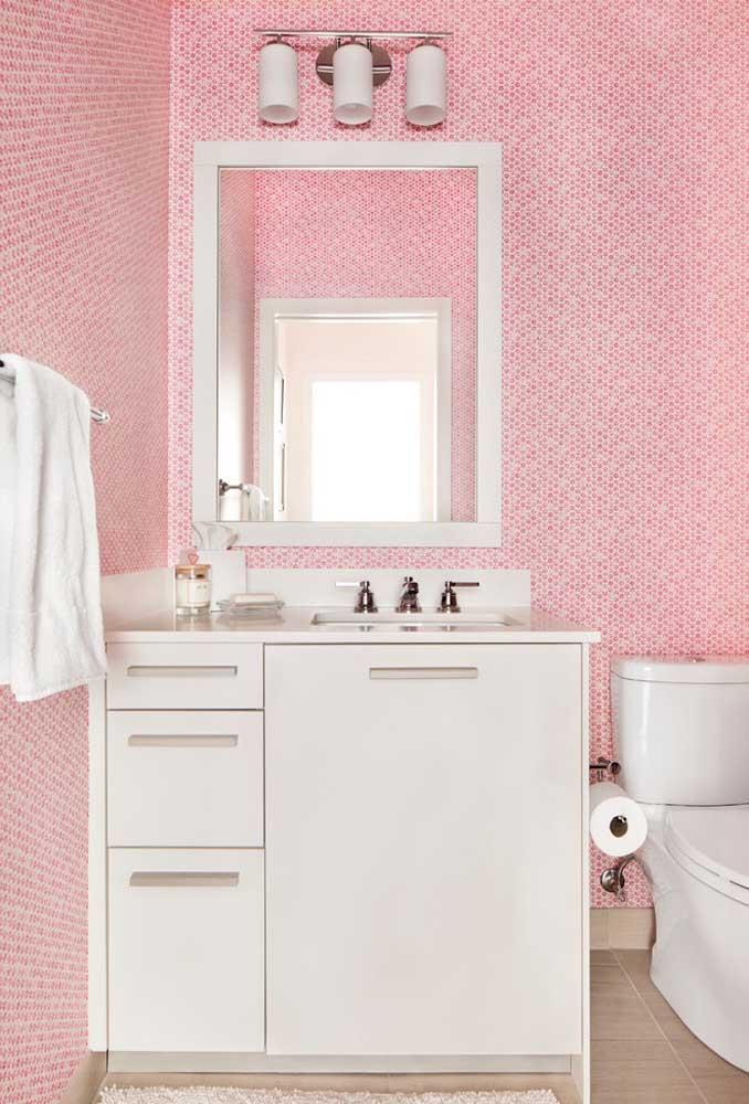Não existe combinação mais perfeita do que as cores rosa e branca.