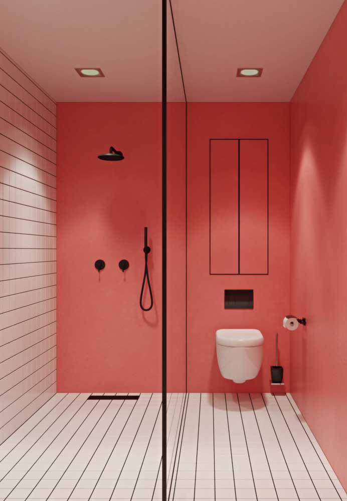 Ou fazer um banheiro totalmente moderno.