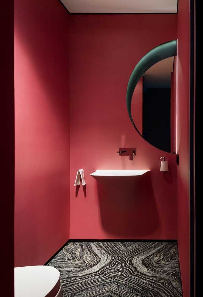 Ou mais ousadia do que esse modelo de banheiro?