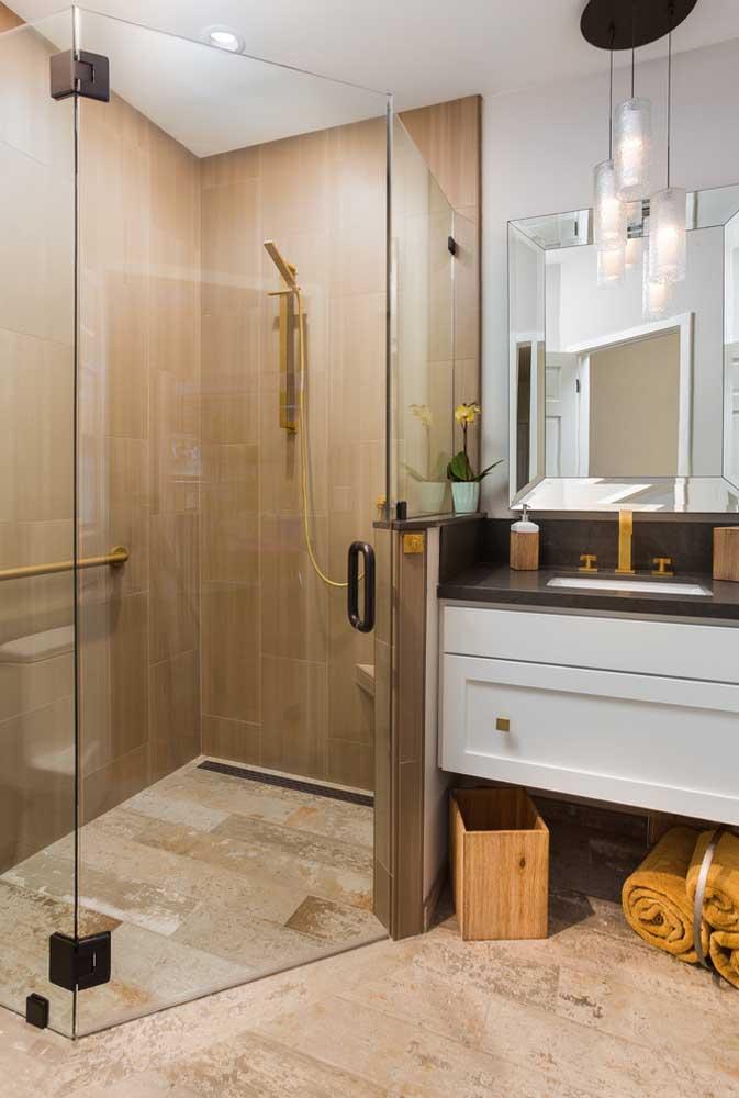 Box de banheiro de canto: melhor aproveitamento do espaço