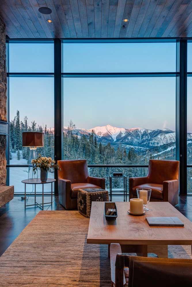 E se tiver a sorte de ter uma vista incrível não deixe de optar por enormes janelas