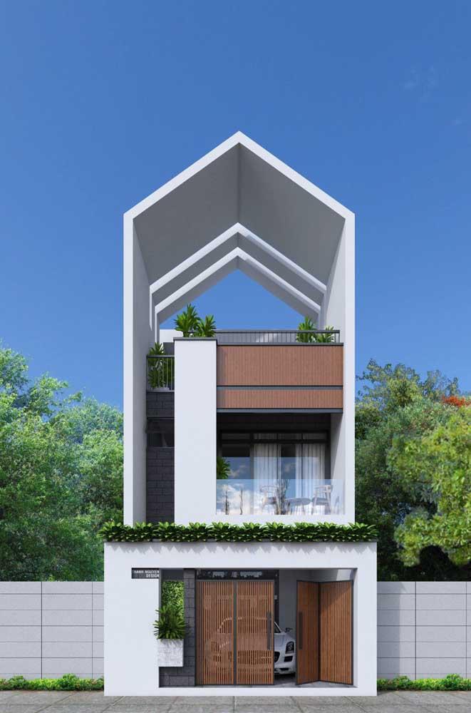 Arquitetura moderna também se aplica aos projetos de casas pequenas, por que não?