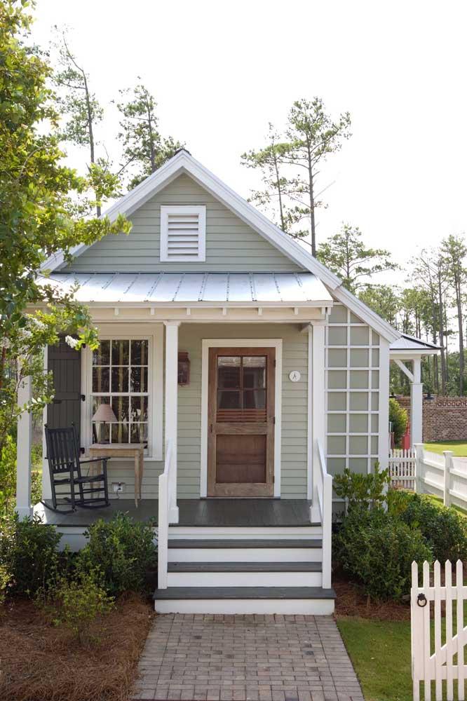 Uma casa simples e pequena para viver de modo descomplicado