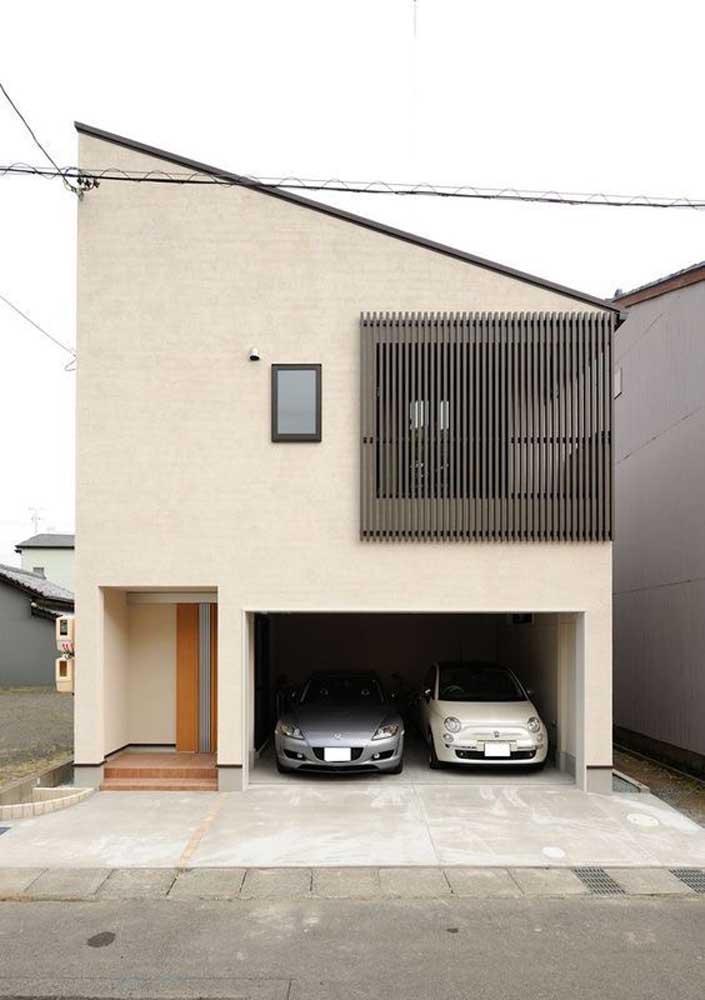 Telhado embutido para garantir aquele toque moderno à entrada da casa
