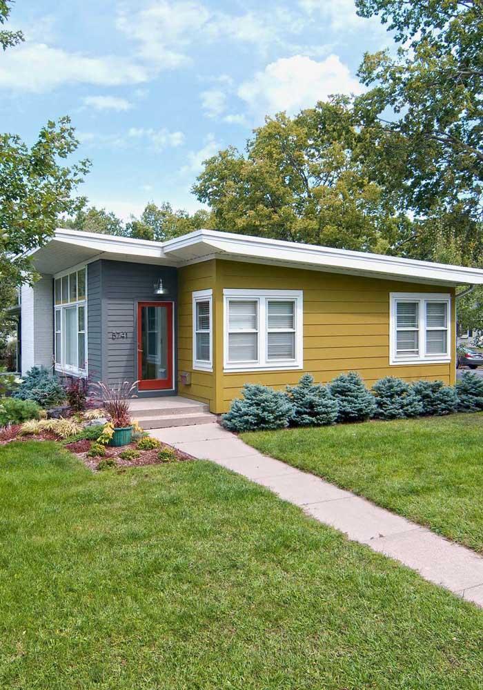 Traga cor à fachada da casa simples