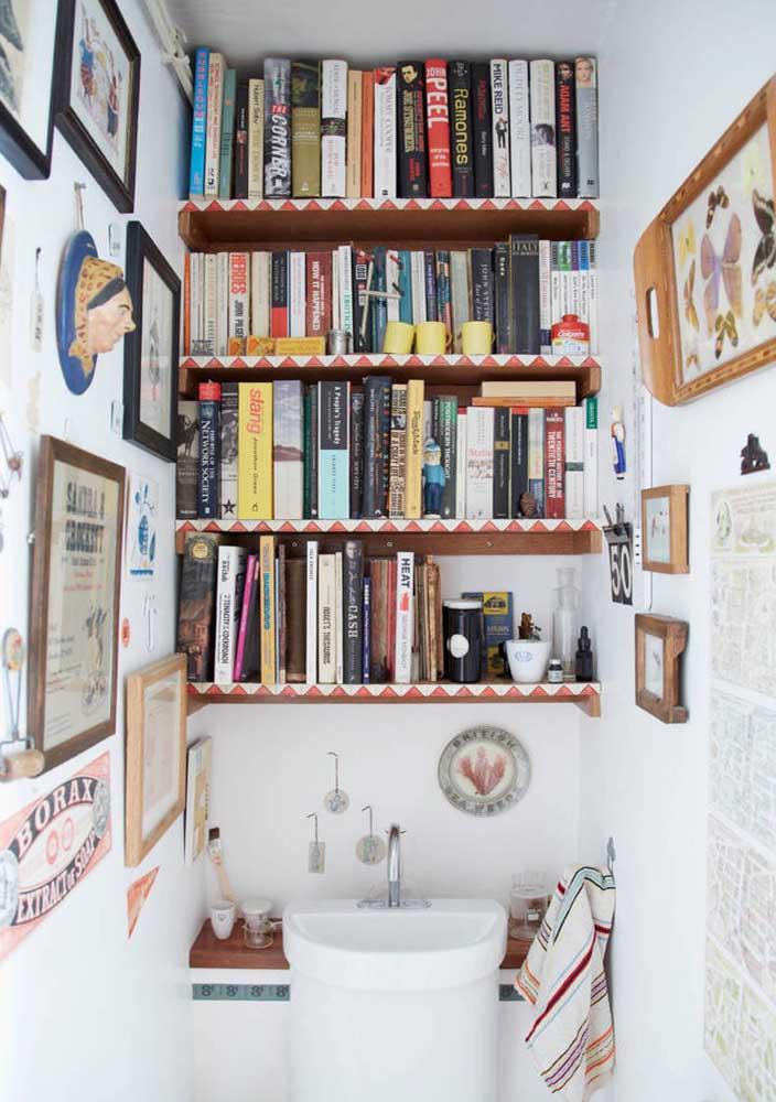 E no banheiro você pode criar um espaço original e, por que não, até cultural?