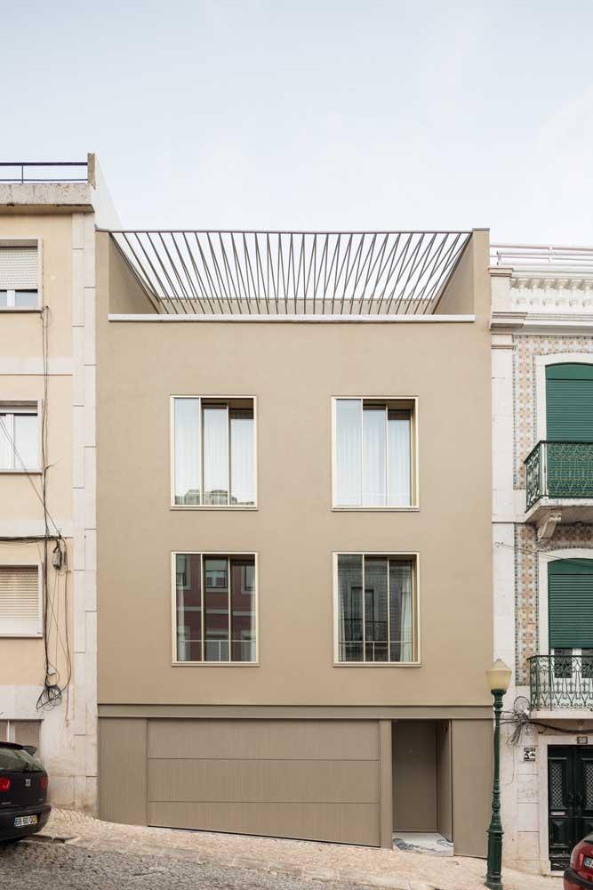 O clássico tom de bege para a fachada da casa