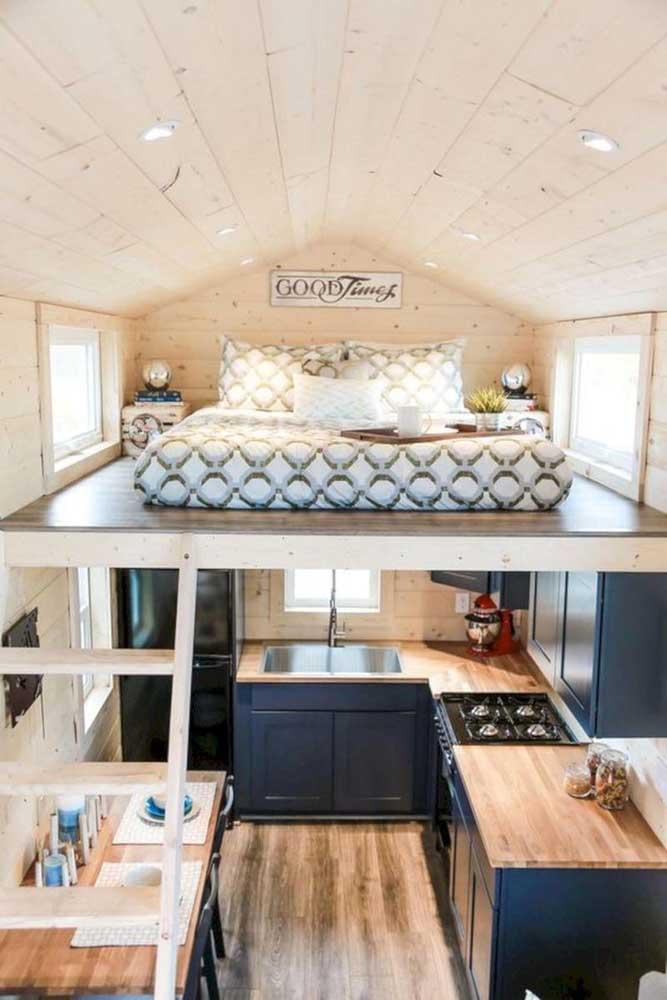 Aproveite melhor o espaço da casa simples com um mezanino