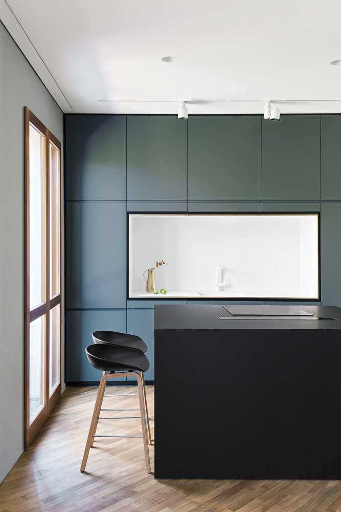 Cozinha americana simples, moderna e minimalista