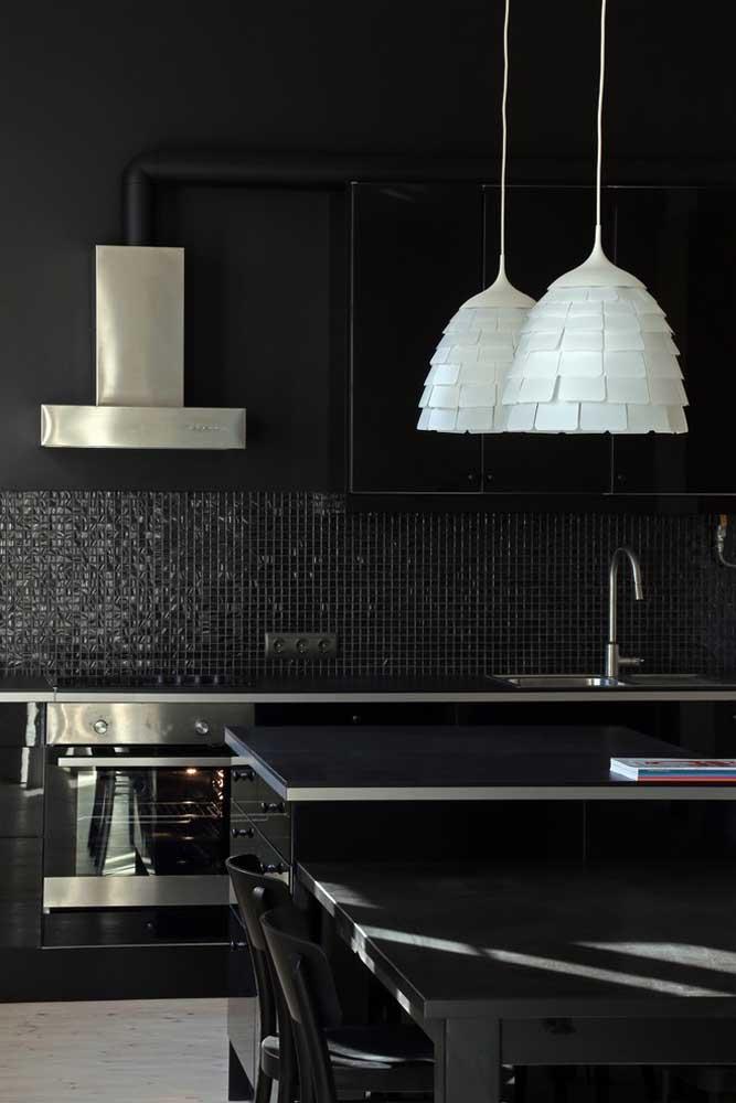 Cozinha americana preta: uma inspiração para os amantes de uma decor dark