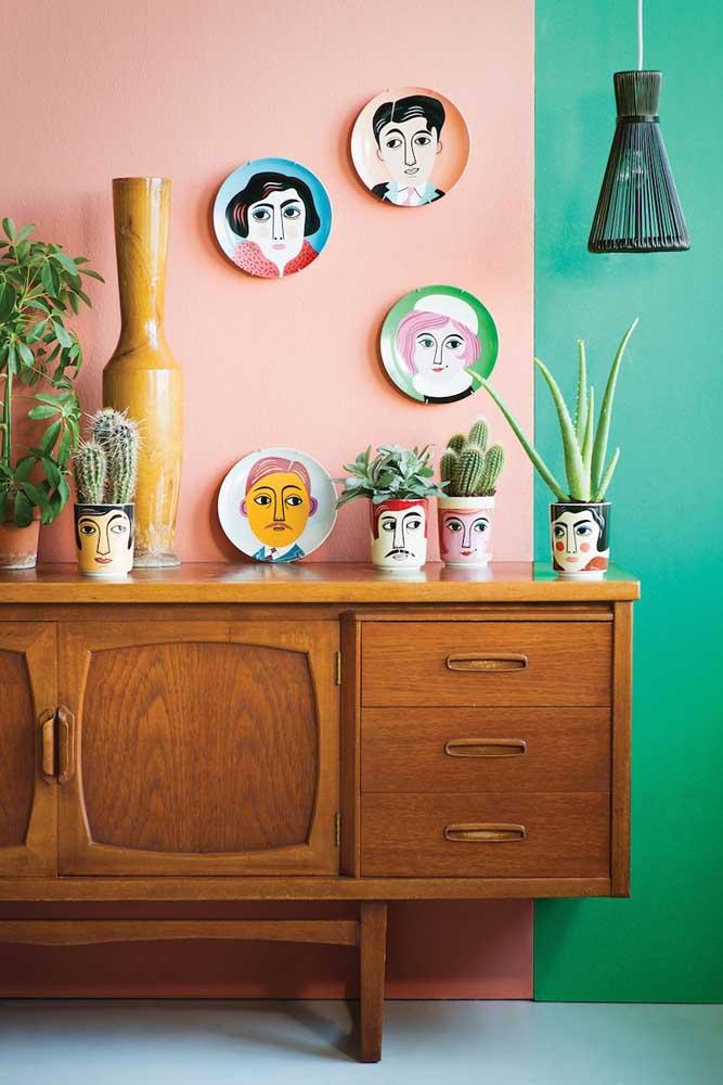 Vasos e pratos pintados à mão: desperte o artista que há em você