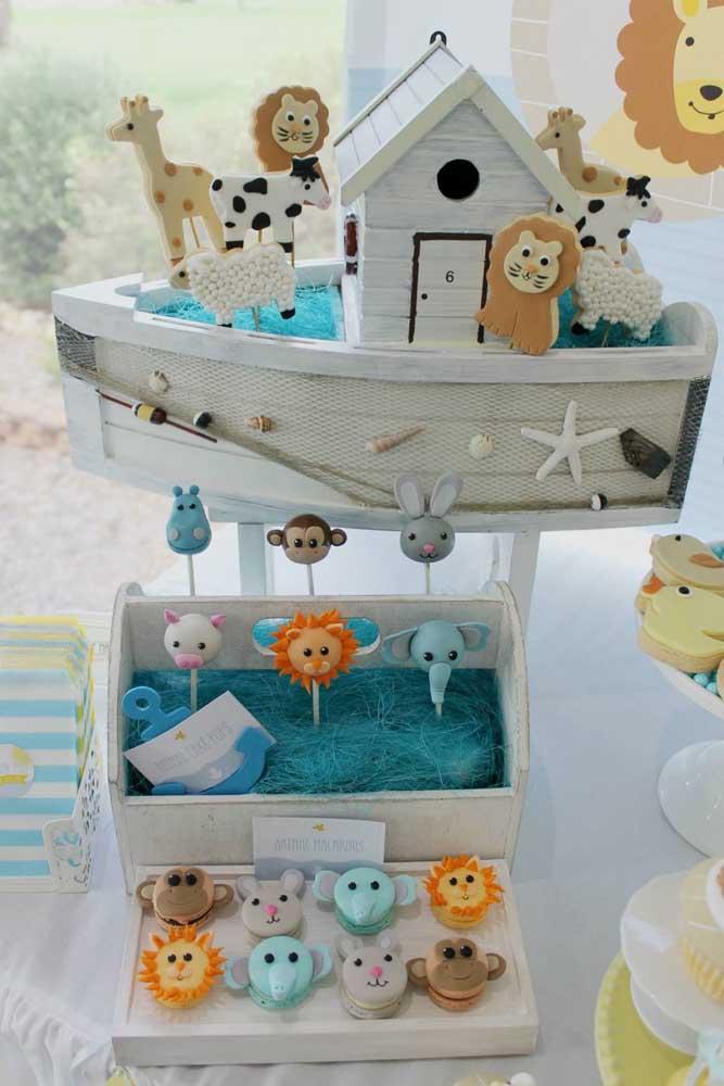 Um tema divertido e muito lúdico para festa de batizado, ideal para crianças: a arca de noé