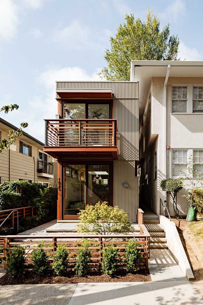 Fachada de casa container; opção moderna, bonita e econômica de moradia