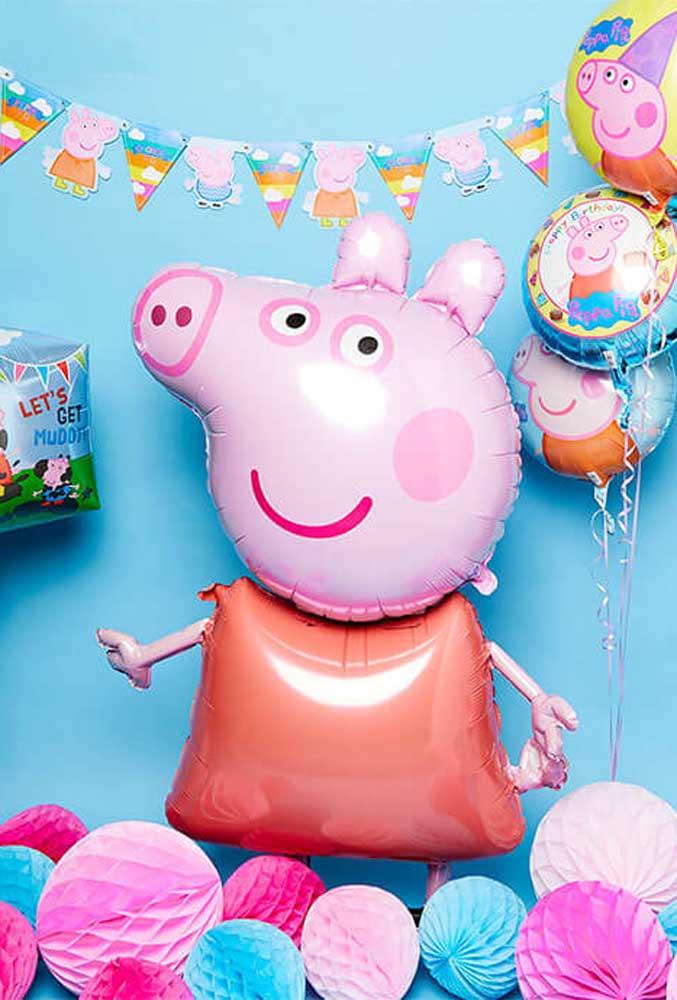 Saiba que é possível fazer a Peppa Pig com balões.