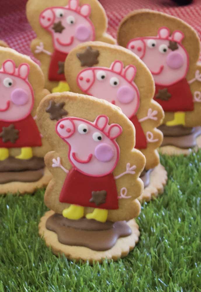 As crianças vão adorar os biscoitos personalizados com a Peppa Pig.