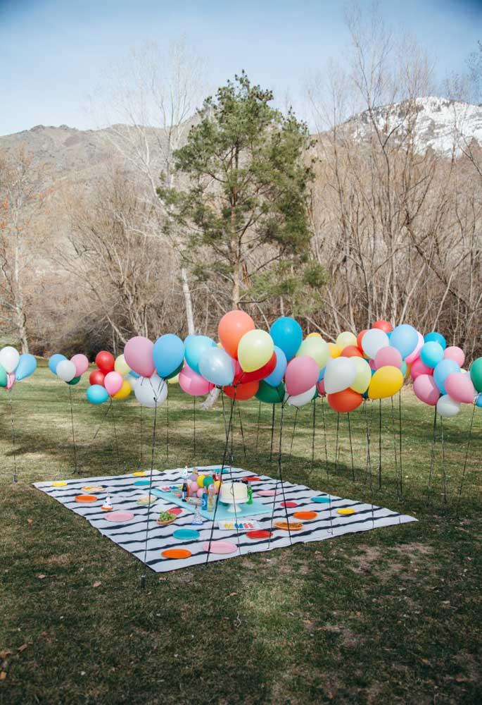 Esse tipo de decoração é o mais indicado para um aniversário com o tema piquenique.
