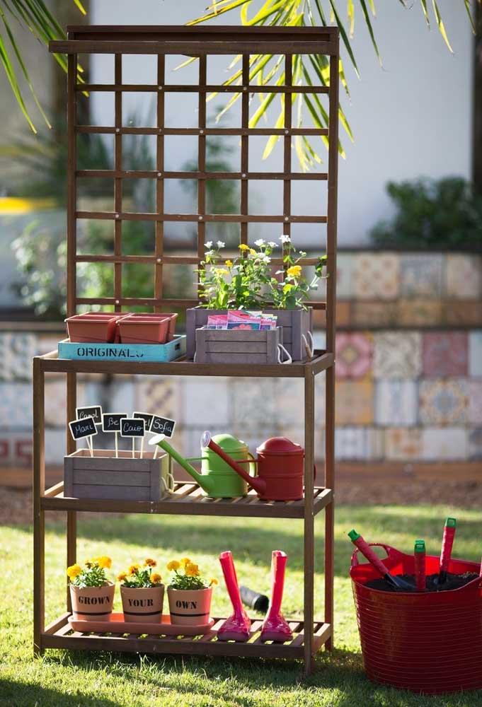 Use móveis antigos ou que você não usa mais para fazer um cantinho de cultivo de plantas.
