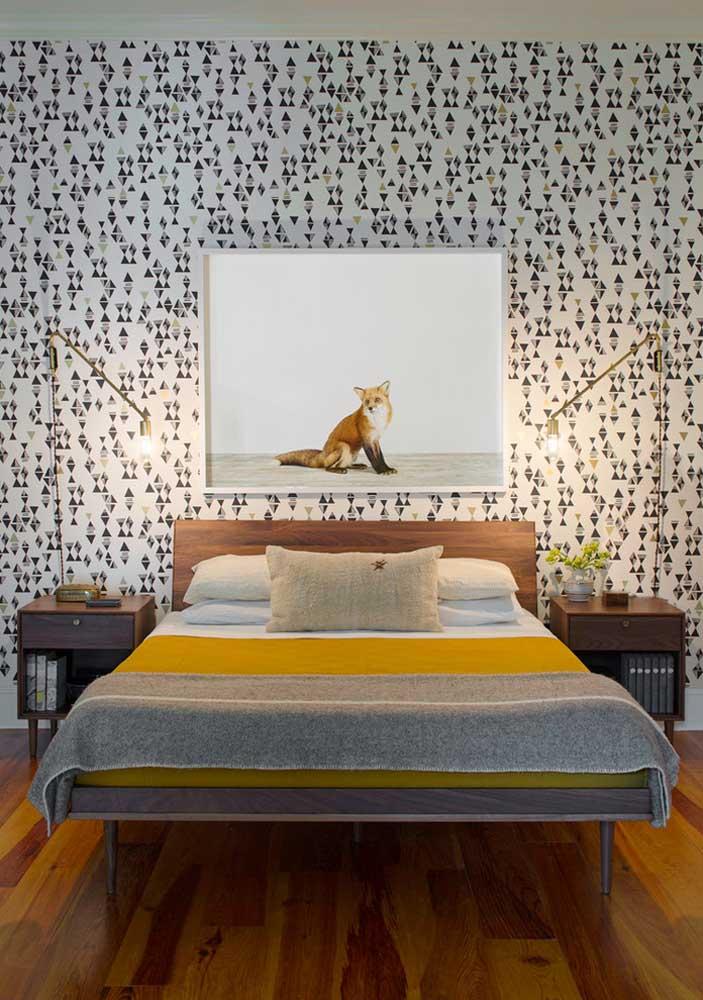 Dupla de luminárias de mesa moderna e minimalista para o quarto do casal