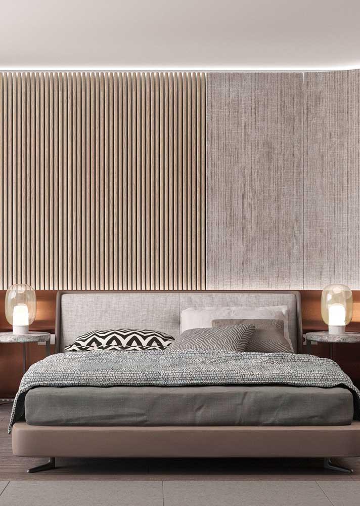 A típica composição de criado mudo e luminárias para o quarto do casal