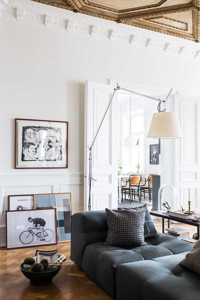 Sala com cara de galeria de arte