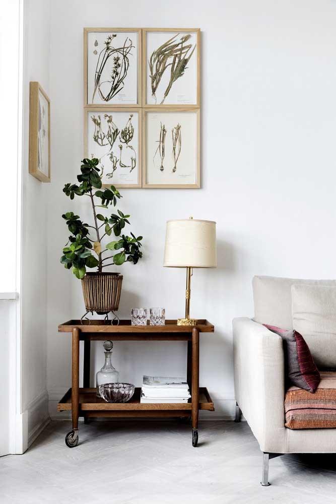 Quadros para sala com inspiração botânica