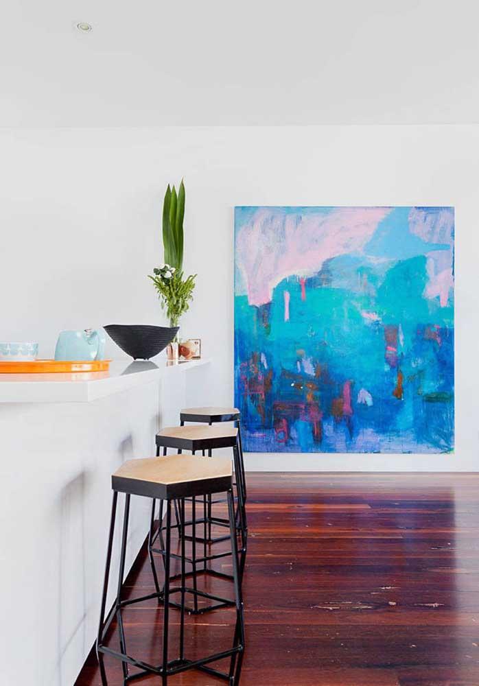 Quanta inspiração e tranquilidade uma tela azul pode passar!