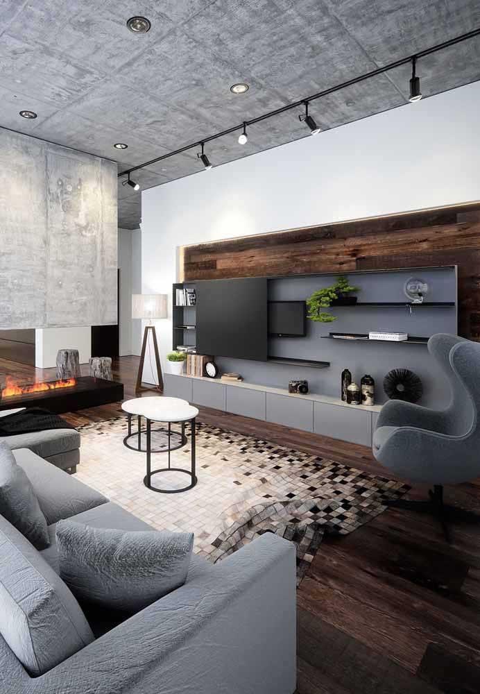 Quer uma sala planejada moderna? Então invista nos tons de cinza