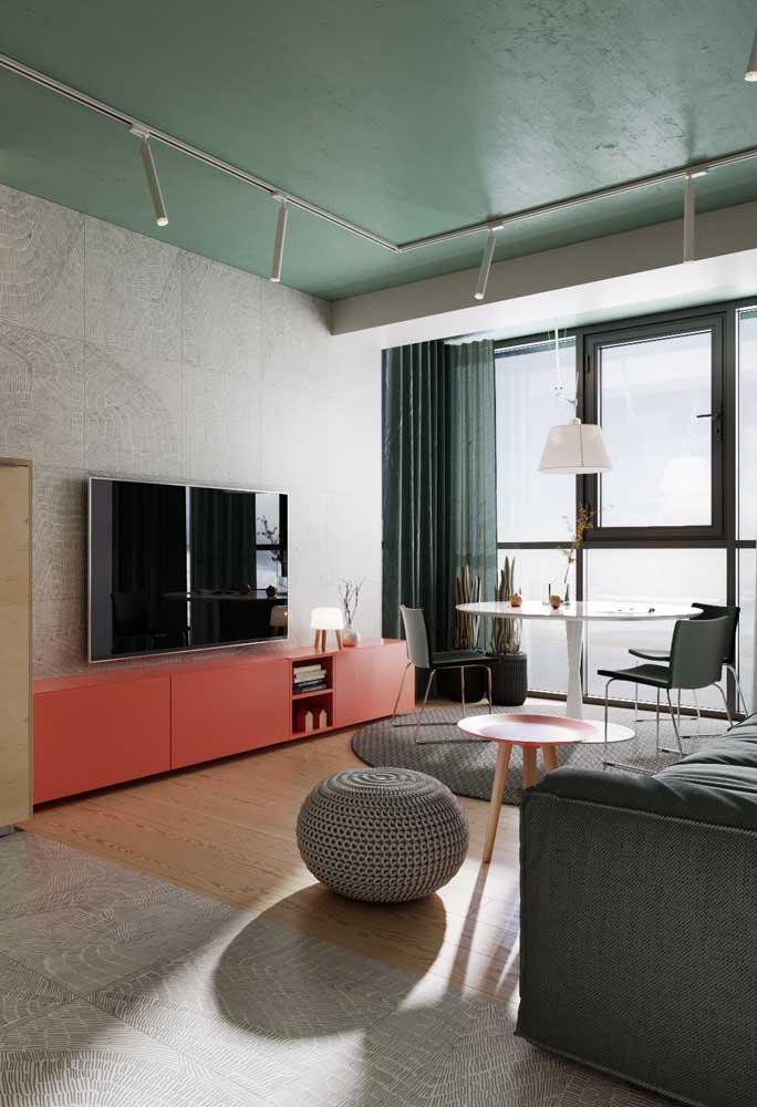 Teto colorido: uma tendência de decoração que pode ser usada sem medo, se enjoar e só pintar de outra cor